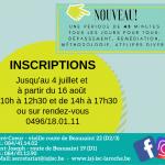 Inscriptions – Nouveautés 2019-2020